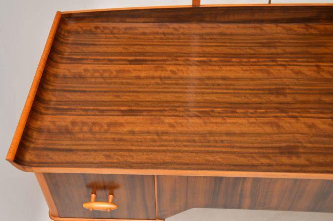 retro vintage walnut dressing table