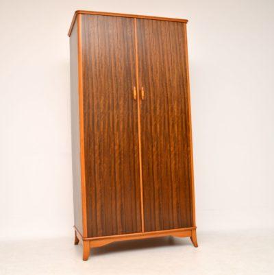retro vintage walnut wardrobe
