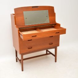 danish teak retro vintage dressing table vanity bureau