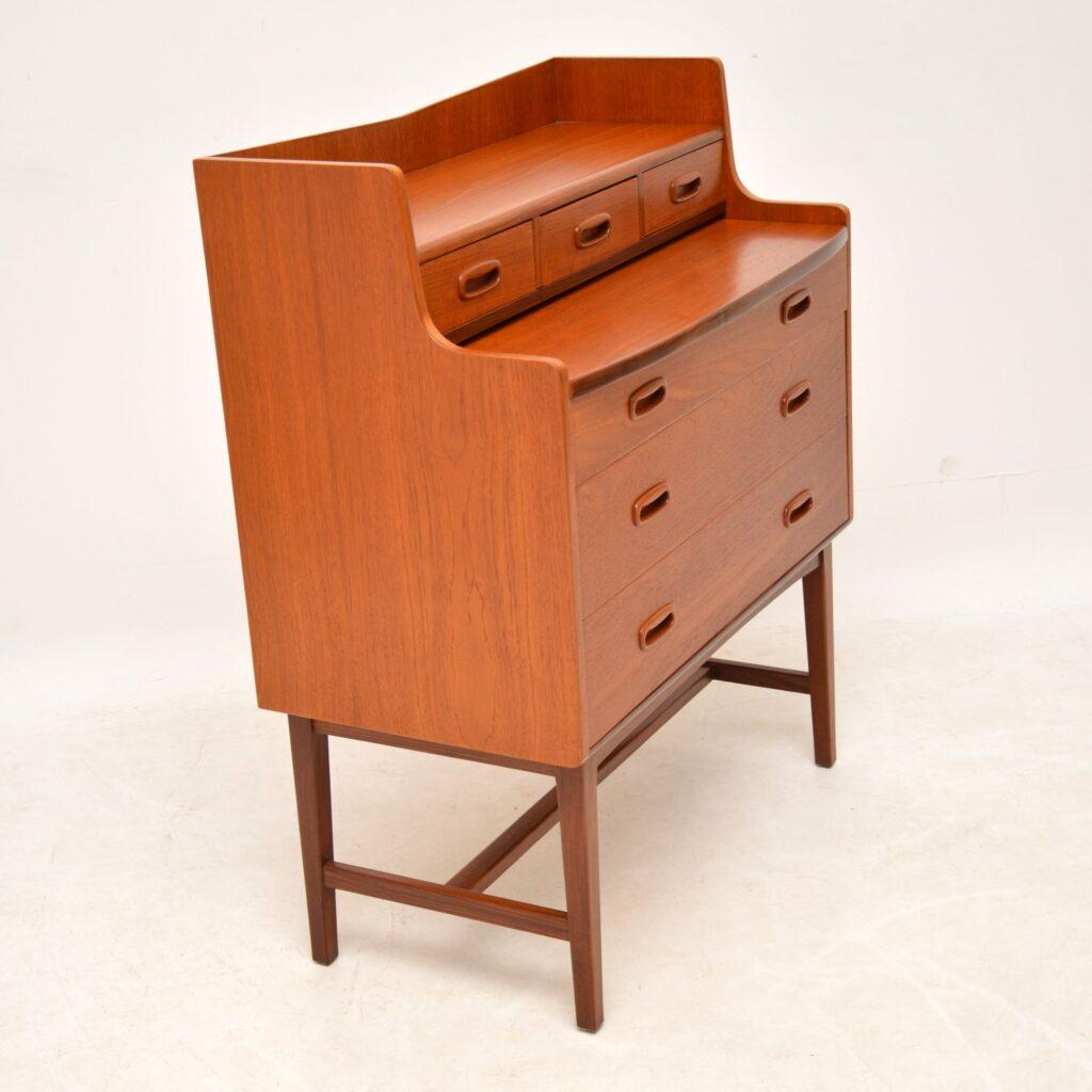 danish teak retro vintage dressing table vanity bureau