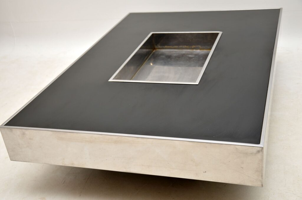 retro vintage italian willy rizzo coffee table