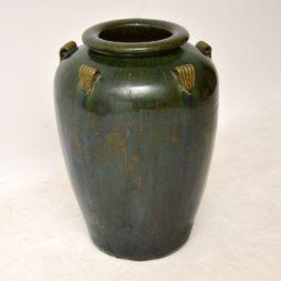 large antique retro vintage ceramic earthenware vase