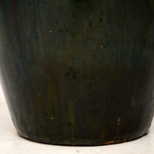 large antique retro vintage ceramic earthenware vase