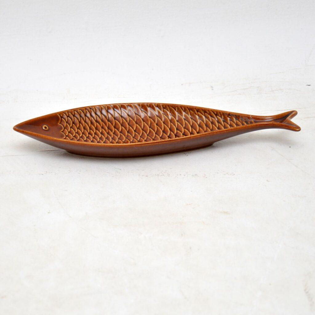 vintage retro swedish ceramic fish dish stig lindberg gustavsberg