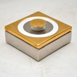 retro vintage italian ceramic porcelain pot box baldelli italy