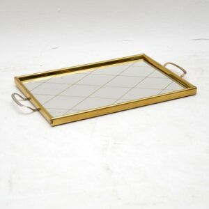 1960's Vintage Mirrored Serving Tray
