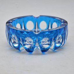retro vintage crystal glass ash tray saint louis