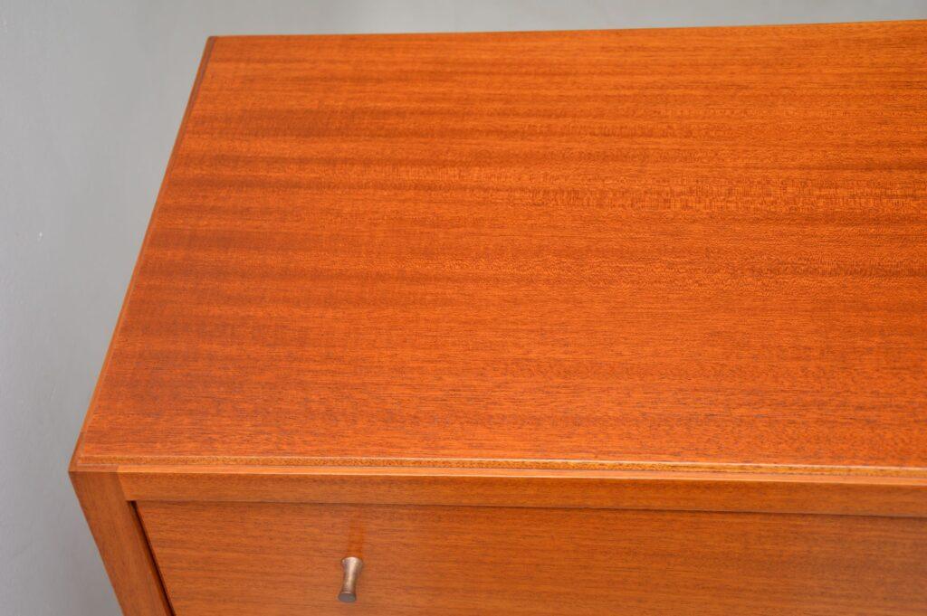 retro vintage mahogany chest of drawers