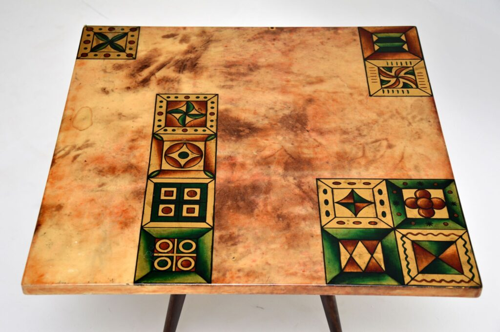 aldo tura vintage retro coffee table