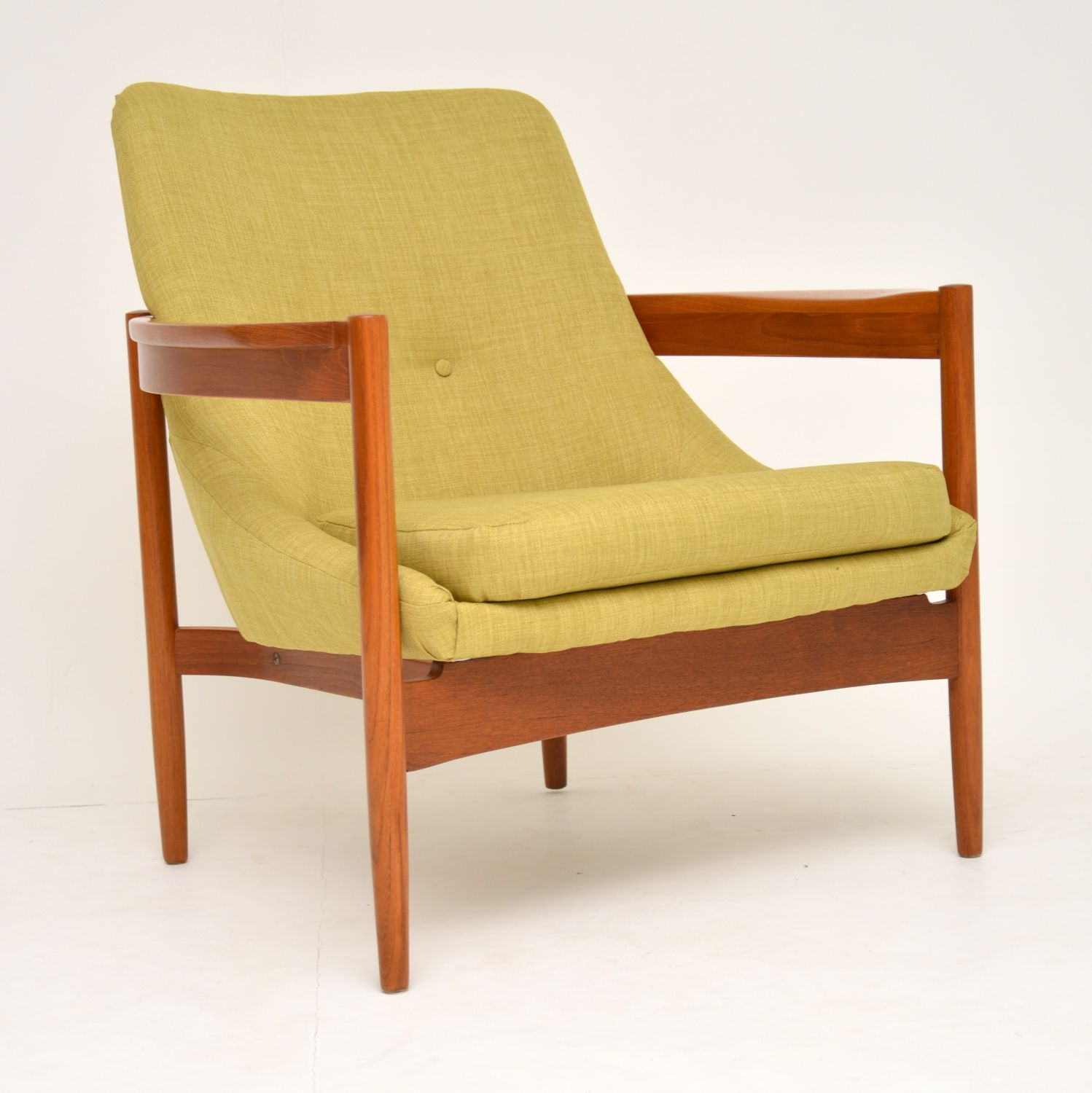 danish retro vintage teak armchair guy rogers