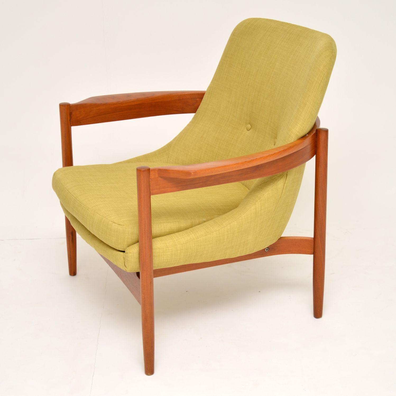 danish retro vintage teak armchair guy rogers