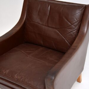 danish vintage retro leather armchair