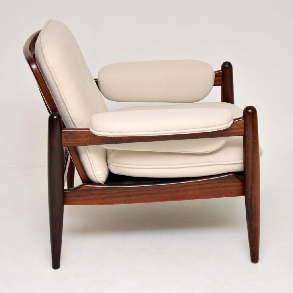 danish rosewood retro vintage armchair