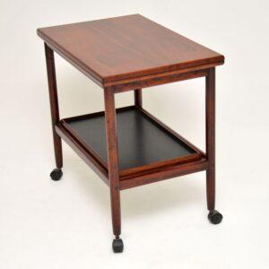 danish rosewood retro vintage drinks trolley