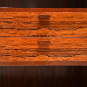 danish rosewood retro vintage bookcase