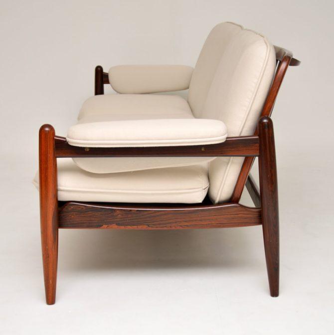 danish rosewood retro vintage sofa