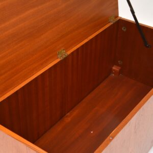 1960's Teak Vintage Storage Box / Ottoman / Blanket Chest