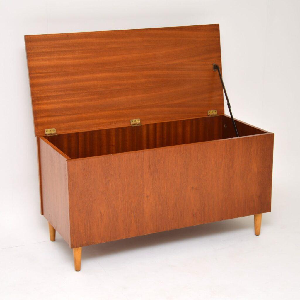 danish teak retro vintage storage chest ottman box