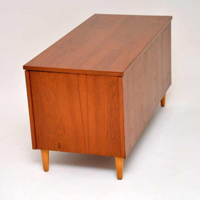 danish teak retro vintage storage chest ottoman box