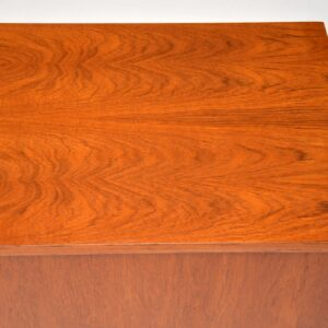 danish teak retro vintage storage chest ottoman box