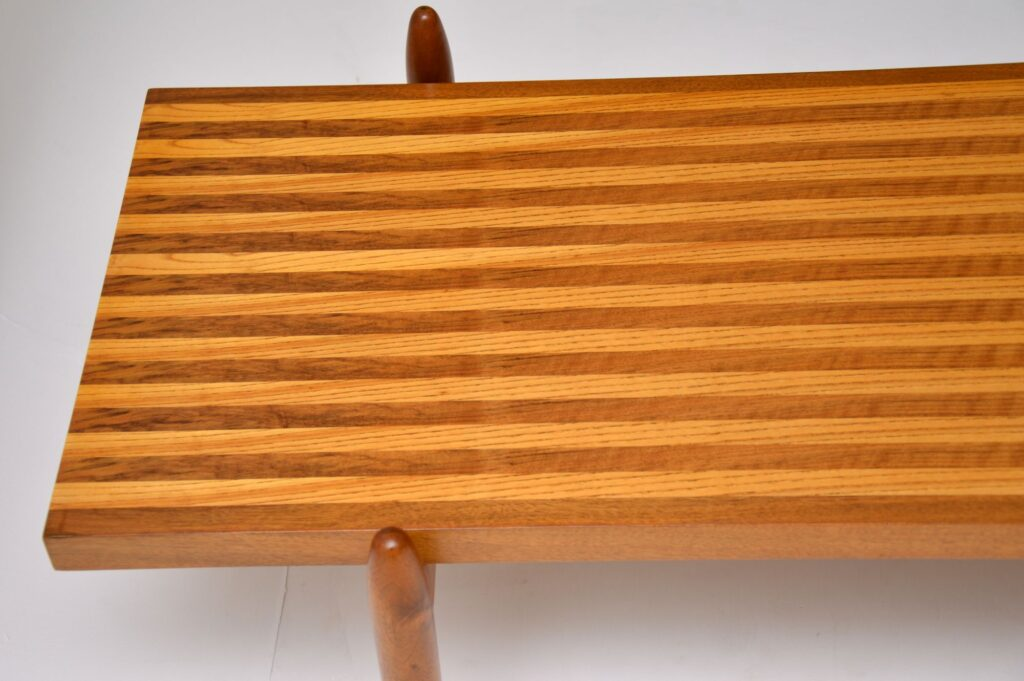 danish rosewood walnut elm coffee table retro vintage