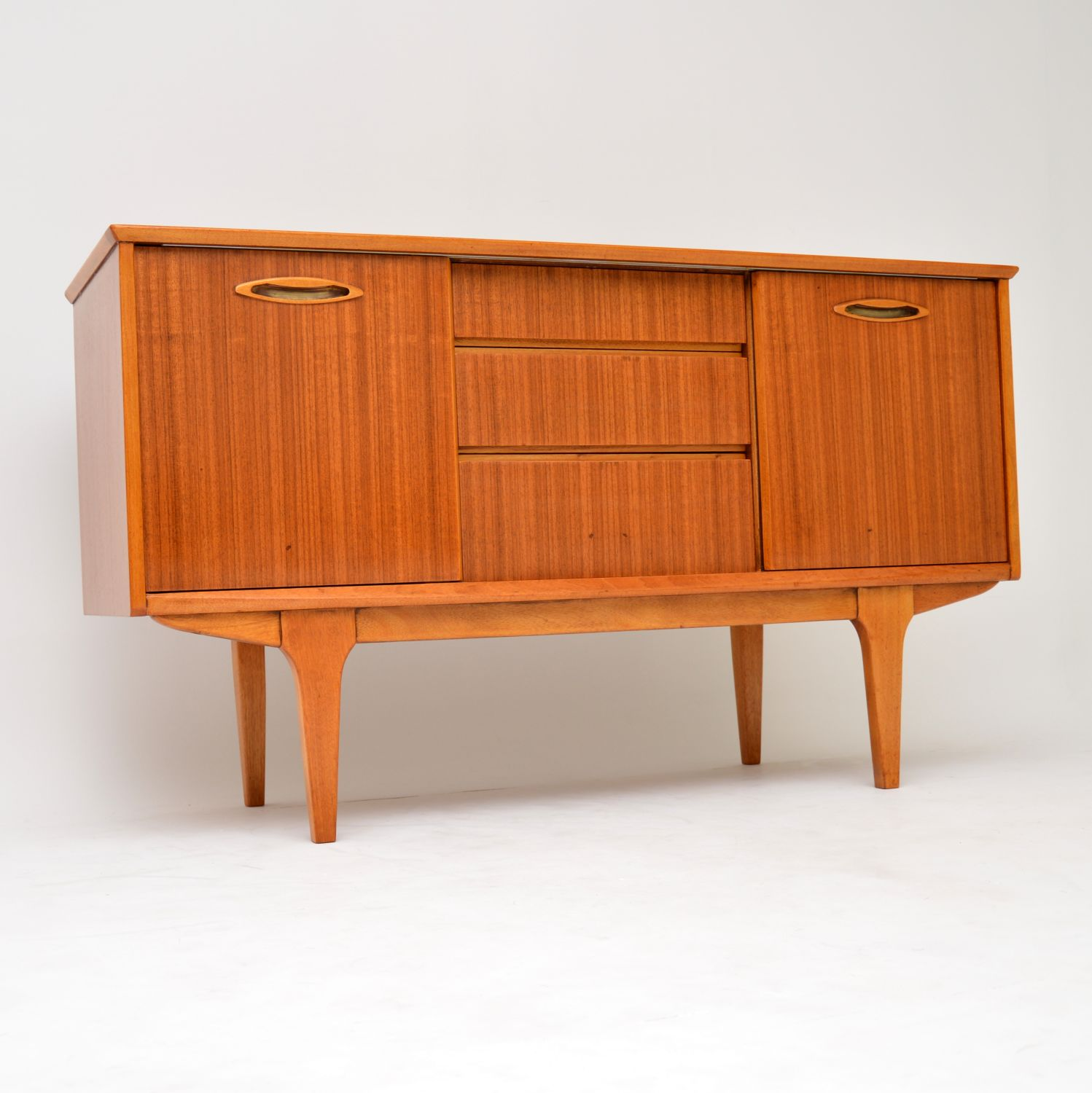 retro vintage danish teak walnut sideboard