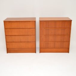 pair of danish retro teak chests of drawers