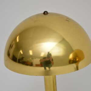 pair of retro danish vintage brass table lamps