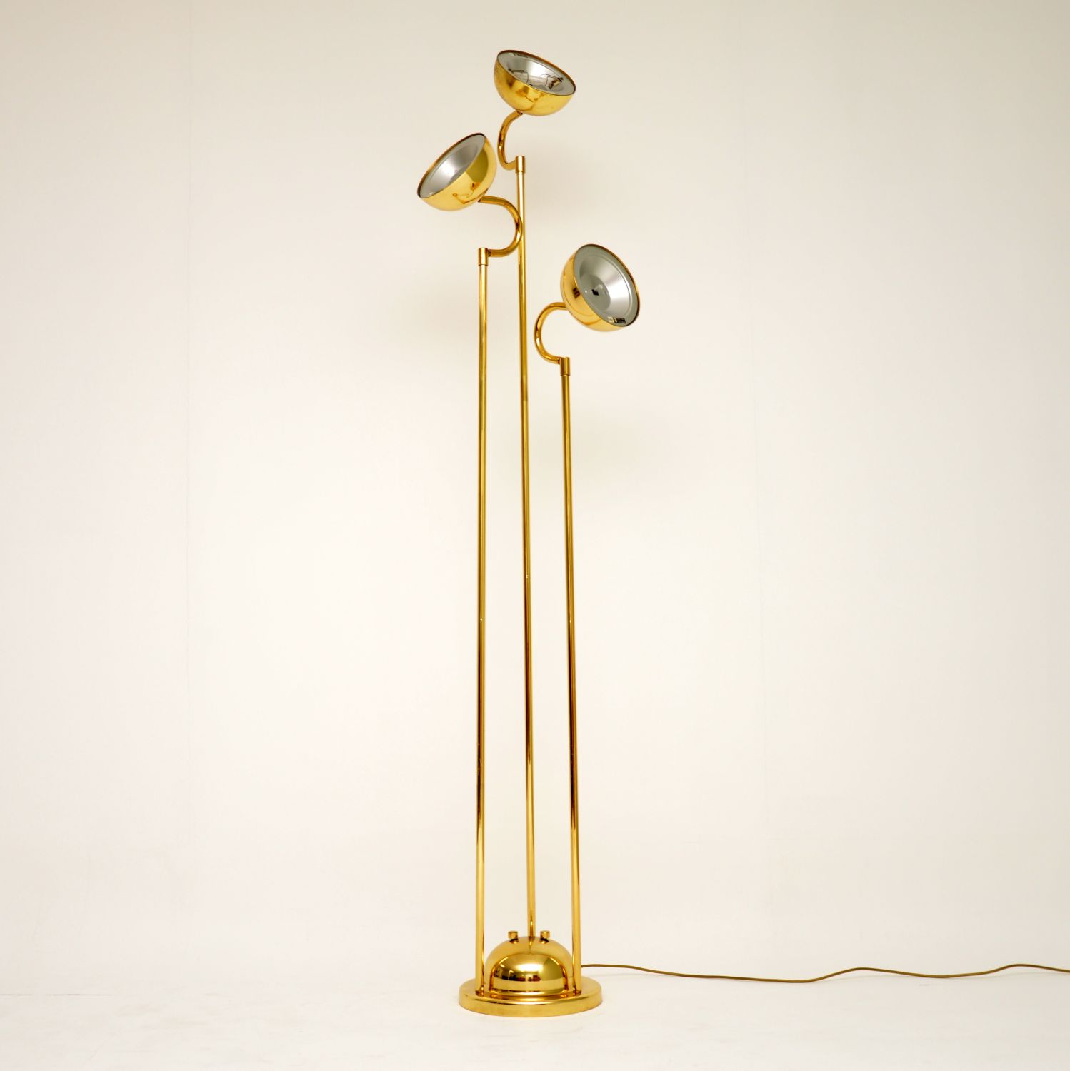 retro vintage brass italian floor lamp lighting
