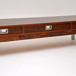 1960's Vintage Rosewood & Steel Coffee Table
