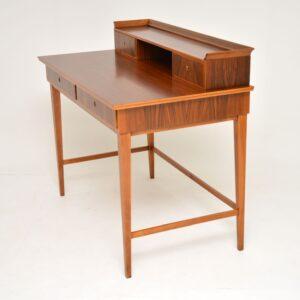 danish retro vintage walnut writing desk