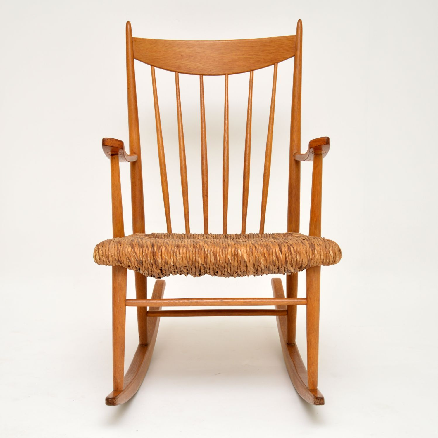 danish retro vintage rocking chair