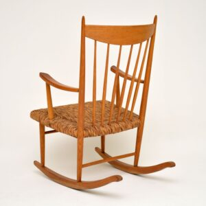 danish retro vintage rocking chair