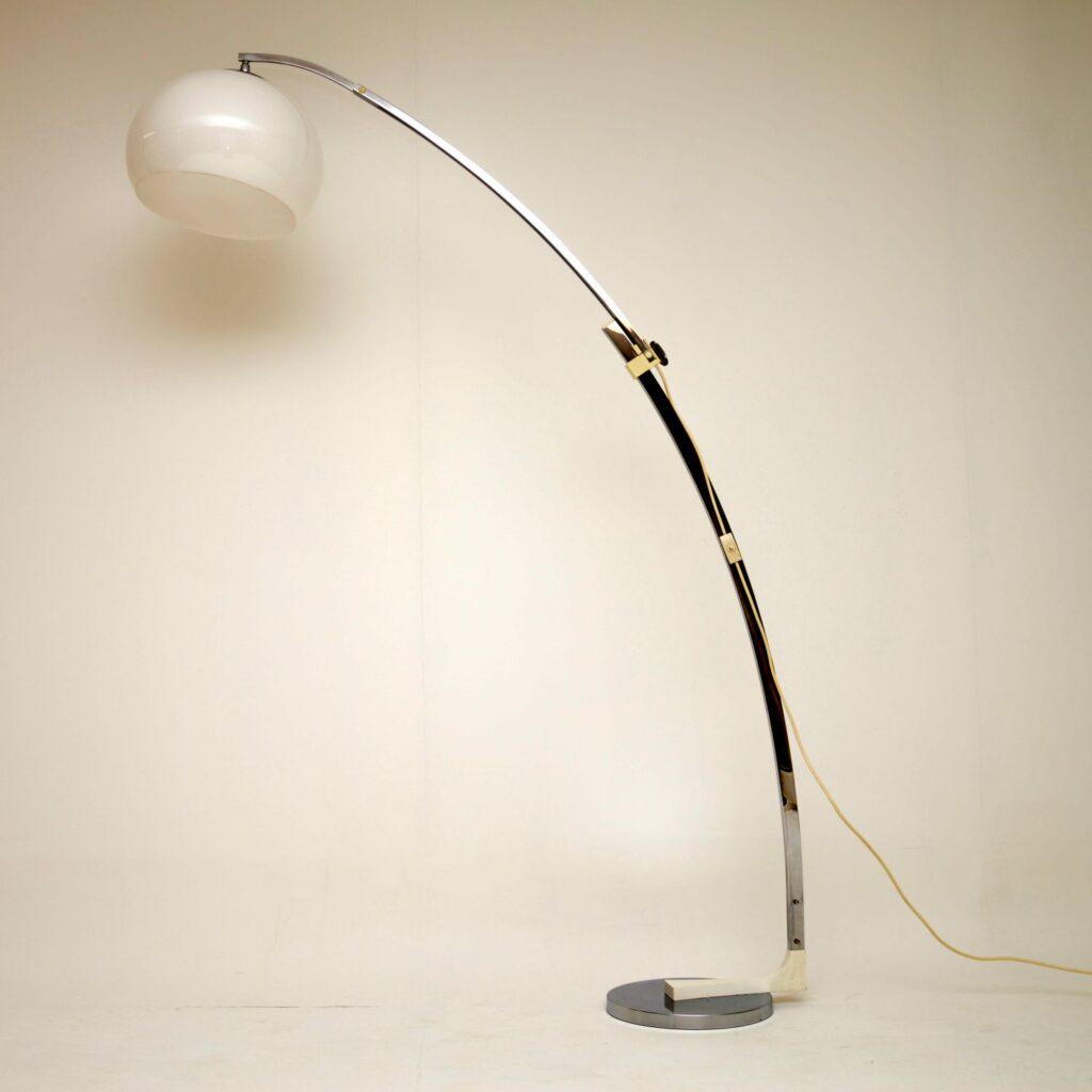 retro vintage italian arc floor lamp guzzini