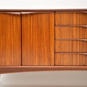 1960's Vintage Zebrano & Walnut Sideboard