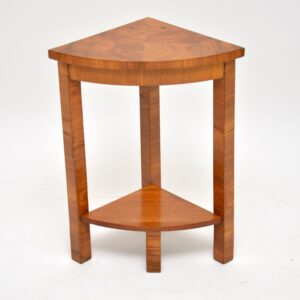 art deco burr walnut nesting tables coffee table