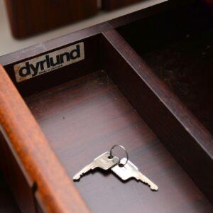 1970's Vintage Danish Rosewood Executive Desk by Dyrlund