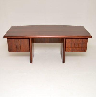 danish rosewood retro vintage desk dyrlund