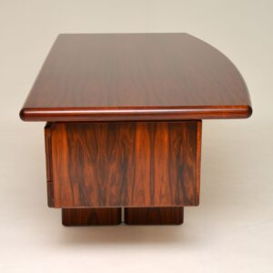 1970's Vintage Danish Rosewood Executive Desk by Dyrlund