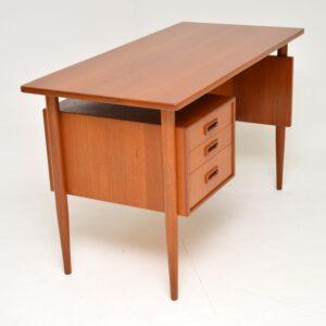 danish teak retro vintage desk kai kristiansen