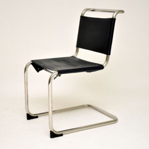 mart stam retro vintage steel leather s33 chair
