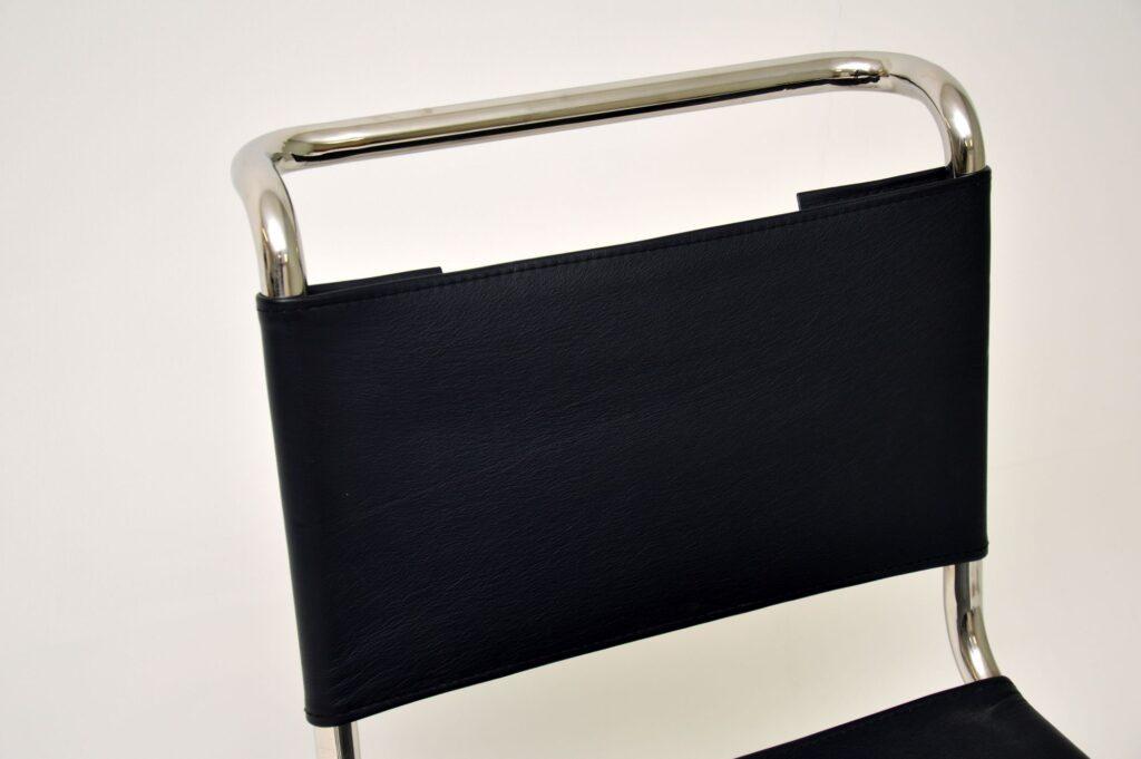 mart stam retro vintage steel leather s33 chair