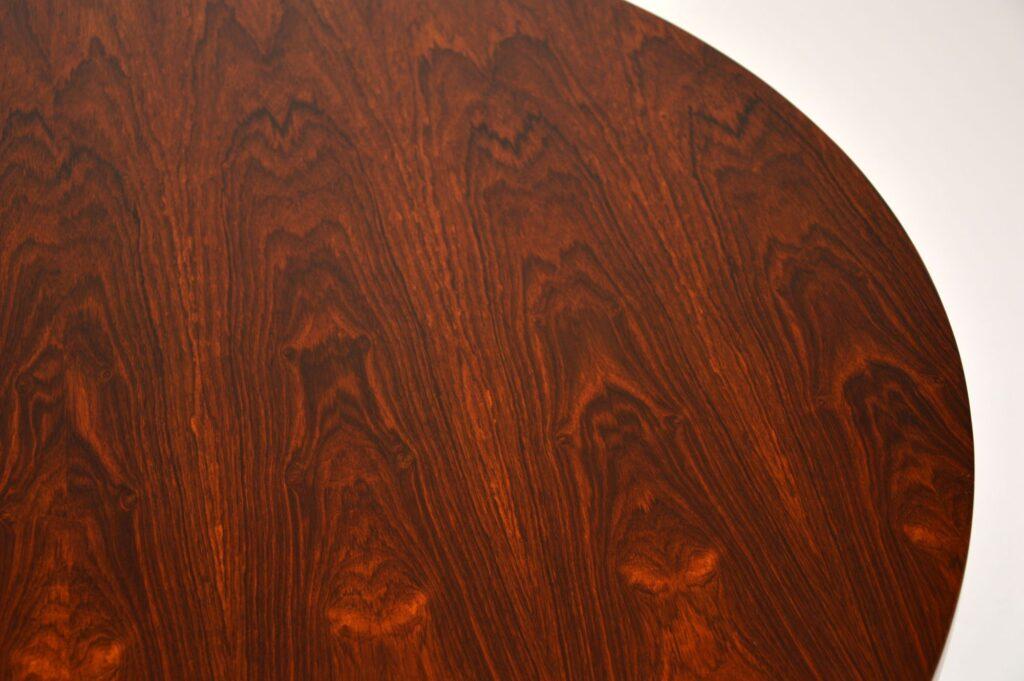 retro vintage rosewood chrome dining table merrow associates