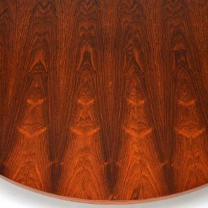 1960's Rosewood & Chrome Dining Table by Merrow Associates
