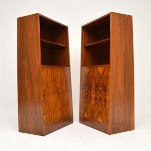 Pair of 1920's Original Art Deco Walnut Bookcase / Cabinets