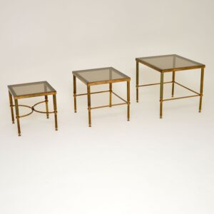 retro vintage brass nest of tables