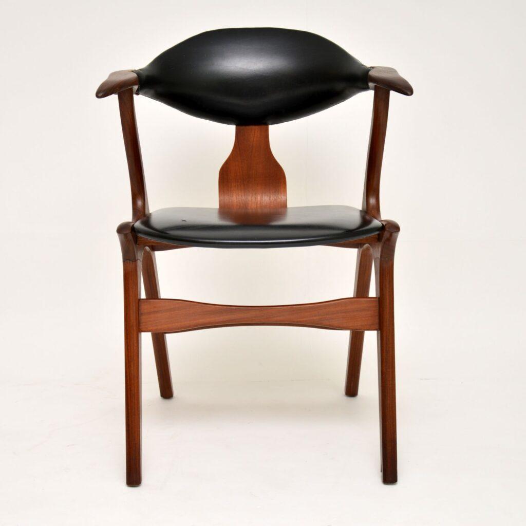danish teak retro vintage dining desk chair