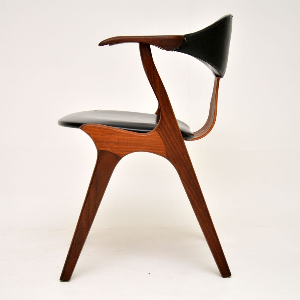 danish teak retro vintage dining desk chair