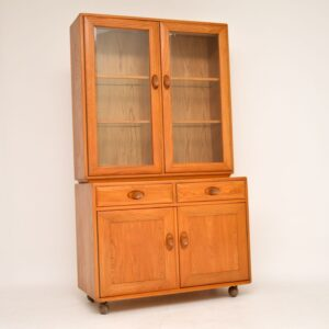 retro vintage solid elm bookcase cabinet by ercol golden dawn windsor