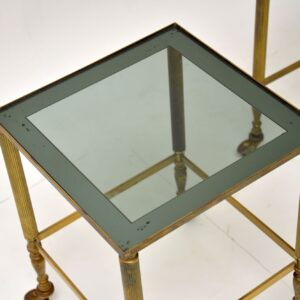 1950's Vintage French Brass Nest of Tables